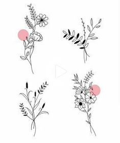 Tattoo Trends To Covet In 2019 - Spat Starctic Mini Tattoos, Cute Tattoos, Flower Tattoos, Small Tattoos, Flower Sketches, Flower Doodles, Bullet Journal Inspiration, Doodle Art, Tattoo Drawings