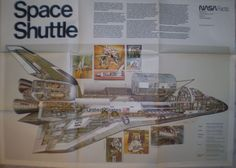 Vintage NASA Facts Space Shuttle Poster NF-81 Barron Storey