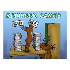 Shop reindeer games 3 postcard created by mortified. Reindeer Games, Funny Postcards, Birthday Postcards, Game 3, Funny Cute, Postcard Size, Adulting, Smudging, Holiday Cards