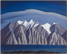 """""""Bylot Island Shore, Arctic Sketch XXXII,"""" Lawren S. Harris, oil on paperboard, The Art Gallery of Ontario. Canadian Painters, Canadian Artists, American Artists, Group Of Seven Art, Group Of Seven Paintings, Landscape Sketch, Landscape Paintings, Landscape Quilts, Landscape Art"""