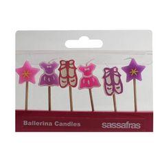 Sassafras / Set of 6 Party Candles, Ballerina