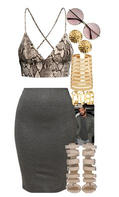 """Untitled #1414"" by power-beauty ❤ liked on Polyvore featuring H&M, American Apparel, Forever 21 and Chanel"