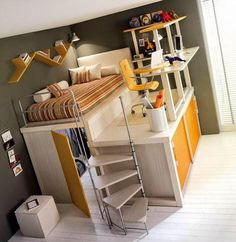 Kids Bedroom : Excellent Modern Tumidei Loft Beds For Sale - Luxurious Kids Loft Double Beds In The Tiramolla Selection loft spaces, modern loft beds for kids, tumidei prices, amazing bunk beds, tiramolla loft bedroom collection from tumide Bedroom Loft, Dream Bedroom, Kids Bedroom, Bedroom Decor, Kids Rooms, Bedroom Furniture, Bedroom Setup, Bedroom Interiors, Girl Bedrooms