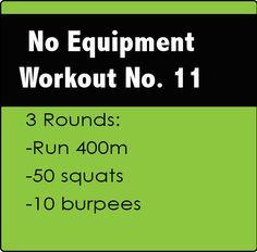 No Equipment CrossFit Workout No. 11