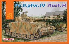 H (Mid Production) w/Zimmerit Plastic Model Kits, Plastic Models, Panzer Iv, Dragon, Military Art, Normandy, Team Building, Box Art, Military Vehicles