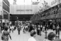 A picture of Market Street and the Arndale Centre in Manchester on December 22, 1986.