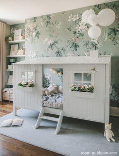 Room Interior Design, Kids Room Design, Girl Room, Girls Bedroom, Childrens Room, Deco Jungle, Floral Bedroom, Ikea, Gris Rose