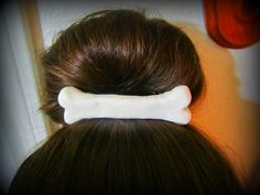 pebbles hair bone barrette cavewoman  possible DIY..just need to find plastic bone