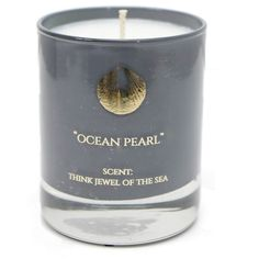 Hightide Devon  - Ocean Pearl Scent Think Jewel Of The Sea 30cl Candle ($37) ❤ liked on Polyvore featuring home, home decor, candles & candleholders, ocean home decor, coconut candle, coconut scented candles, leaves candle and fig candle