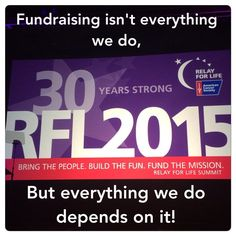 Key message about fundraising #relayforlife