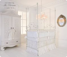 Obsessed with getting a wrought iron canopy crib from Bratt Decor! Can't wait to make our first big nursery purchase. Canopy Curtains, Canopy Bedroom, Patio Canopy, Diy Canopy, Canopy Tent, Canopies, Window Canopy, Beach Canopy, Garden Canopy
