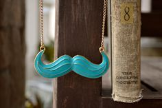 Like a Sir! With a cheeky mustache necklace, you can go undercover anytime. Like A Sir, Mustache, Turquoise Necklace, Arrow Necklace, Buy And Sell, Pendant, Handmade, Stuff To Buy, Etsy