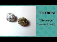 """Tutorial perline: come realizzare una sfera rivestita (beaded bead) """"Florence"""" - YouTube"""