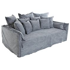 The high-quality Ghost 16 Sofa is a product by designer Paola Navone, created on commission for the Italian design furniture label Gervasoni. The Ghost 16 Sofa Denim Furniture, Royal Furniture, Furniture Logo, Furniture Covers, Ikea Furniture, Furniture Plans, Living Room Furniture, Simple Furniture, City Furniture