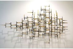 Vintage ABSTRACT GEOMETRIC MODERN Metal Wall by fabulousmess, $895.00