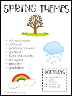 Teaching Preschool Themes Printable How to Budget for Home Improvements Home improvement projects of April Preschool, Preschool Lessons, Preschool Learning, Preschool Activities, Spring Preschool Theme, Preschool Themes By Month, Teaching Themes, Preschool At Home, Music Activities