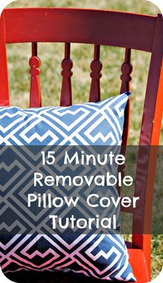 This is a super simple tutorial for a DIY pillow case.  If you know how to sew a straight line, you can sew this!  It will only take about 15 minutes!
