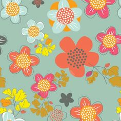 Floral print by Amy Mingkwan on the Print and Pattern Blog