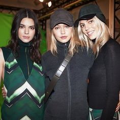 Kendall Took a Backstage Shot at H&M With Gigi Hadid and Devon Windsor