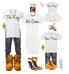 """""""Royal Family Photoshoot."""" by styledbynineaux ❤ liked on Polyvore featuring WearAll, Balmain, Uniqlo, Haus of JR, Timberland, Alexander Wang, Rolex and King Ice"""