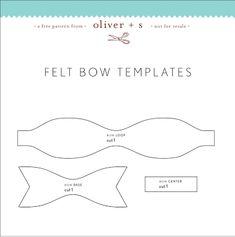 felt bow templates