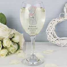 Me To You Wedding Glass | Bridesmaid & Flower Girl Gifts