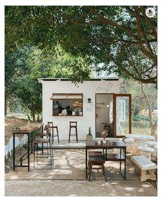 Cafe Shop Design, Coffee Shop Interior Design, Small Cafe Design, Outdoor Restaurant Design, Restaurant Interior Design, Cafe Restaurant, Modern Restaurant, Cafe Bar, Plywood Furniture