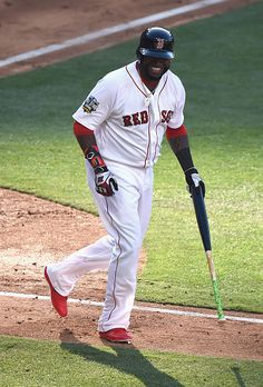 #Allstar2016 David Ortiz of the Boston Red Sox reacts during the 87th Annual MLB AllStar Game at PETCO Park on July 12 2016 in San Diego California