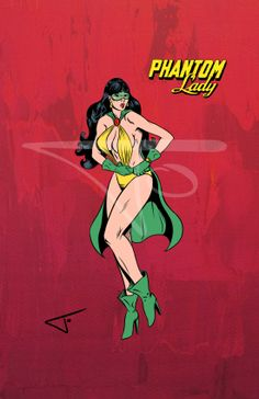 44. Phantom Lady. DC character daily challenge 2014 by Journey Studios
