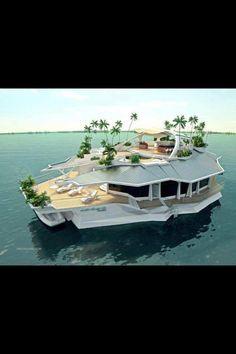 House boat island, wow!