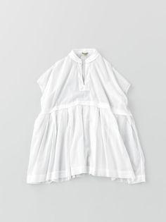 arts & science - tuck braid blouse:  cotton