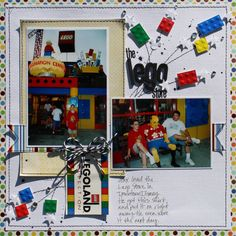 lego Store 2002 by Susan Stringfellow Vacation Scrapbook, Disney Scrapbook Pages, Kids Scrapbook, Scrapbook Cards, Scrapbook Examples, Scrapbook Layout Sketches, Scrapbooking Layouts, Baby Barn, Lego Store