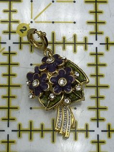 NOLAN MILLER CHARMS Glamour Collection Flower Of The Month Vintage Violets | eBay Disney Up, Primroses, Love Heart, Pandora Charms, Dangles, Charmed, Glamour, Flowers, Vintage