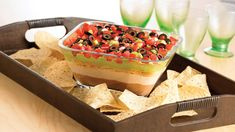 Delicious 7 Layer Fiesta Dip - I'm Just Sayin 7 Layer Bean Dip, 7 Layer Dip Recipe, Seven Layer Dip, Dip Recipes, Mexican Food Recipes, Snack Recipes, Delicious Recipes, Appetizer Recipes, Party Recipes