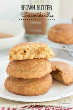 Brown Butter Snickerdoodles - sweet cinnamon cookies are the perfect treat for any time of the year!