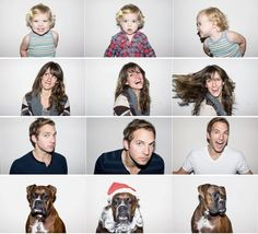 great christmas card idea - minus the dog - weird to think layla will be 11 months old at christmas