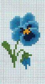 Flores a punto de cruz