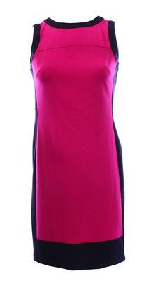 Lauren Ralph Lauren NEW Women's 4 Purple Navy Colorblock Sheath Dress $134