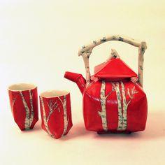 Red Birch Tea Pot by JosieJurczenia, via Flickr