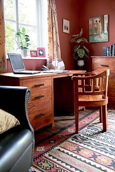 An Indian Summer.  Wall color for den or study.
