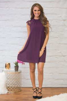 This stunningly elegant dress is so perfect for special occasions - we're in love with this bold shade of purple!