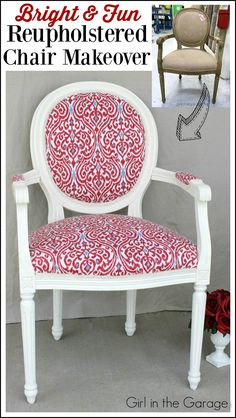 before after from trash to silk screened style upholstery