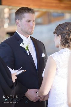 How a groom looks at his beautiful bride while saying his vows Kevin loves Diana Photo By Katie Corinne Photography