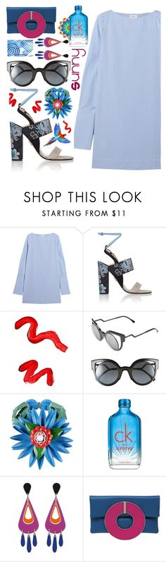 """""""Vacation"""" by sunnydays4everkh ❤ liked on Polyvore featuring Totême, Paul Andrew, Topshop, Fendi, Dsquared2, Calvin Klein, Design Element and Sylvio Giardina"""