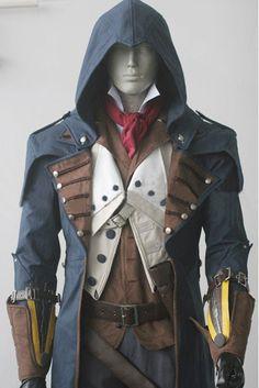 Men's Assassin's Creed 5 Arno Unity Mutiny Cosplay Costume Cloak L