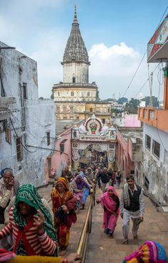 Coming and going - View from a Lord Hanuman temple in India