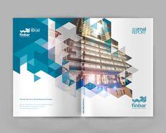 Finbar Conceptual Annual Report by Carolina Pasturczak, via Behance