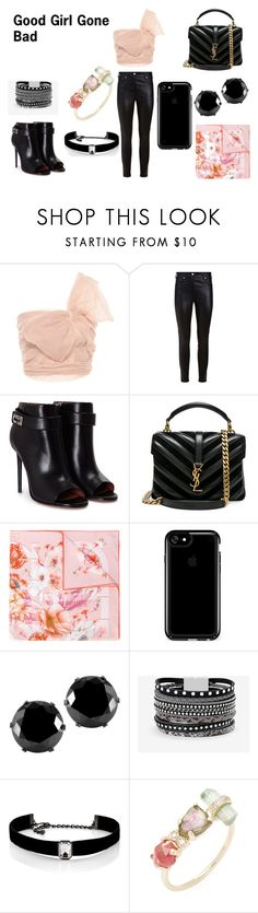"""""""Good Girl Gone Bad"""" by massieblock2003 on Polyvore featuring RED Valentino, Givenchy, Yves Saint Laurent, Salvatore Ferragamo, Speck, West Coast Jewelry, White House Black Market, Kenneth Jay Lane and Jacquie Aiche"""
