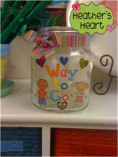Celebrate kind and helpful behavior with bubbles and a Way to Go jar.