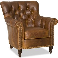 Distinctive details in a classic club chair.